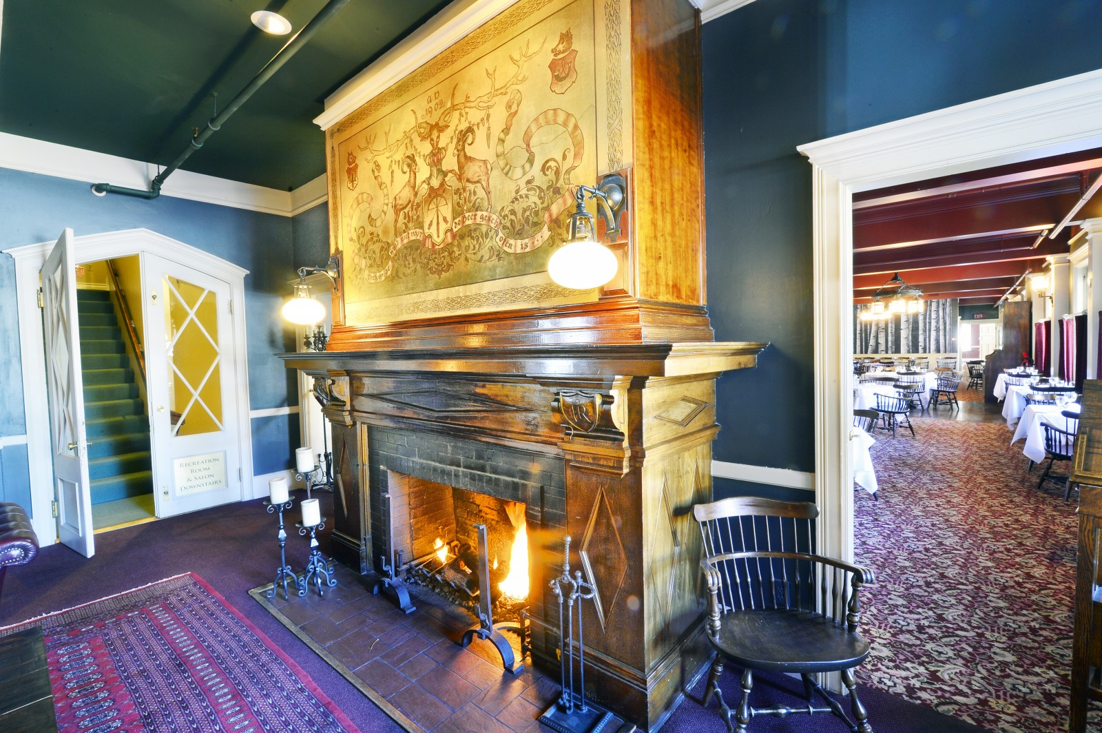 Vintage Fireplace at Redstone Inn