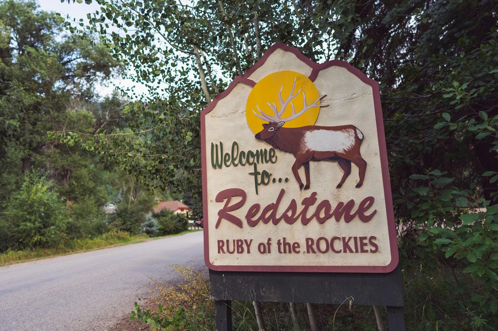 Redstone, Colorado Welcome Sign